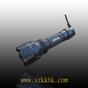 Rechargeable Aluminum Super Bright LED Flashlight Torch (C8)