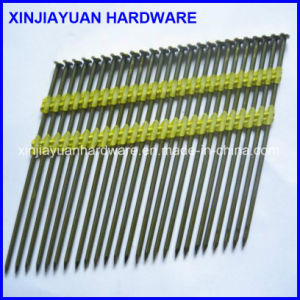 Screw Shank Plastic Coated Strip Nail for Framing Gas Nailer pictures & photos