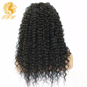 Cheap 180% Density Long Kinky Curly Full Lace Wig Virgin Mongolian Lace Front Wig Kinky Curly Human Hair Wigs for Black Women pictures & photos