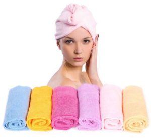 High Quality Custom Women Bath Hair Towel pictures & photos