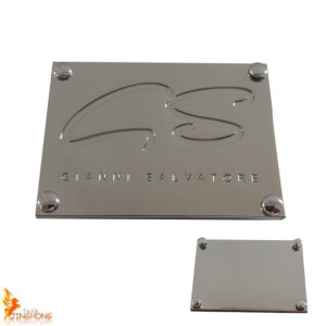 Dongguan Supplier Custom Rectangle Metal Tag Metal Plate pictures & photos