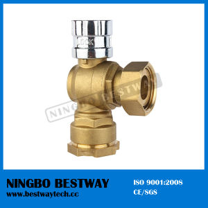 Brass Angle Lockable Ball Valve for Water Meter pictures & photos