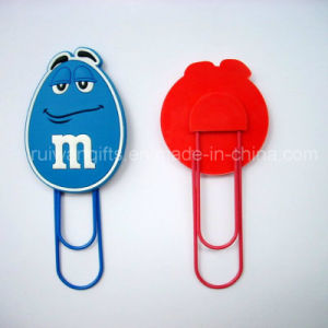 Custom Silicone Paper Clip with Logo pictures & photos