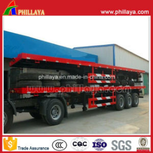 40FT Container High Bed Truck Trailer, Semi Flatbed Trailer pictures & photos