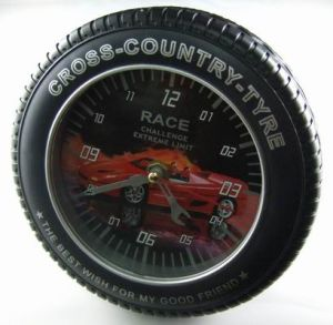 Tyre Shape Car Promotional Digital Desk Wall Clock pictures & photos