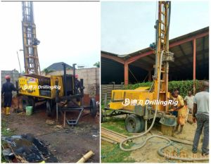 Trailer Mounted Water DTH Hammer Rotary Drilling Rig pictures & photos