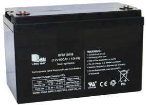 12V100ah Rechargeable Deep Cycle Solar Battery pictures & photos