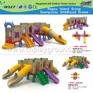 Children Full Plastic Castle Slide Playground Playsets (HD-W-483-10) pictures & photos