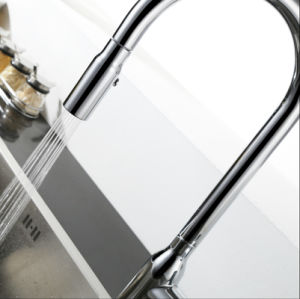 Sanitary Ware Chrome Plate Pull out Kitchen Tap pictures & photos
