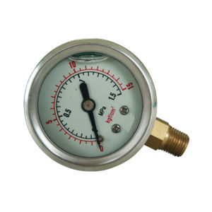 1.5inch-40mm Half Stainless Steel Bottom Liquid Filled Pressure Gauge pictures & photos
