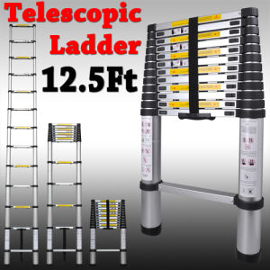 En131 Std. 12.5ft Aluminum Telescopic/Telescoping Extension Loft/Extend Ladder (HD0353)