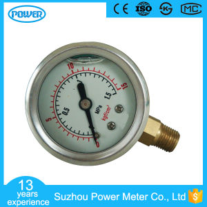 Stainless Steel Case Brass Connection Pressure Gauge with Bottom Mounting pictures & photos