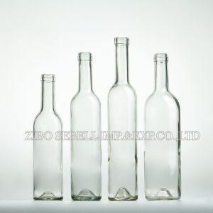 Clear /Transparent /Flint Bordeaux Glass Wine Bottle 750ml, 375ml pictures & photos
