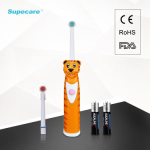 Rotary Sonic Electric Toothbrush Kid Toothbrush with Battery Powered Cartoon Design RoHS/EMC Approved Wy839-D pictures & photos