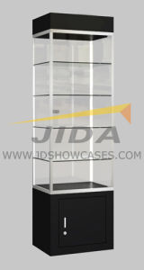 Glass Square Upright Showcase for Jewelry