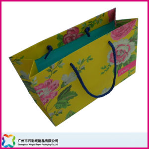 Printed Paper Shopping Carrier Packaging Bag with Handles (xc-5-025) pictures & photos