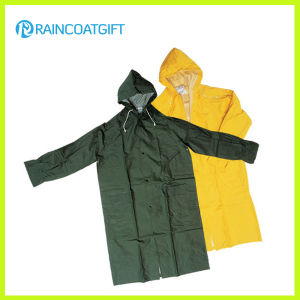 PVC Polyester Long Sleeve Men′s Raincoat pictures & photos