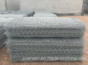 Galvanized Hexagonal Wire Netting for Stone Cage by Puersen pictures & photos