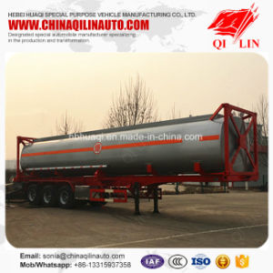 Qilin Stainless Steel 40FT Container Fuel Tank Semi Trailer on Sale pictures & photos