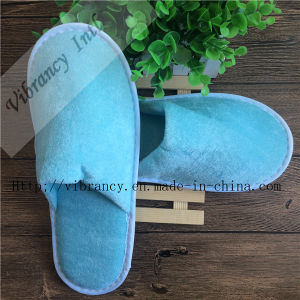 Good Quality for Disposable Velvet Hotel Slippers pictures & photos