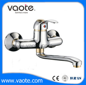 Brass Body Single Hande Sink Wall Mixer Faucet (VT11302) pictures & photos
