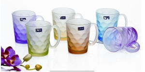 Frosted Glass Cup Glass Mug with Decal Kb-Jh06202 pictures & photos