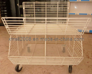 Stackable Wire Cage for Display with Wheels pictures & photos