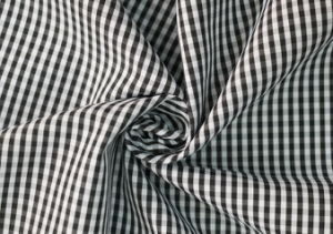 Black/White Classical Checks Plain Polyester Cotton Shirt Fabric pictures & photos
