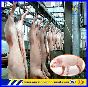 Hog Slaughter Assembly Line/Equipment Machinery for Pork Steak Slice Chops pictures & photos
