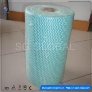 Spunlace Nonwoven Kitchen Wipes in Rolls in Different Colors and Weights pictures & photos