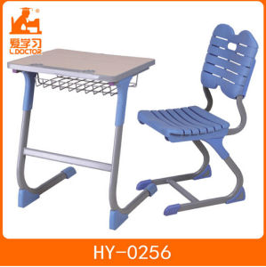 School Desk with Attached Chair of University Furniture pictures & photos