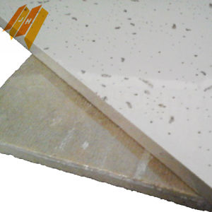 Fabric Ceiling Acoustic Mineral Fibre Panel (603*603mm, Class A) pictures & photos