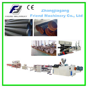 PE PVC Single Wall Corrugated Pipe Production Line pictures & photos