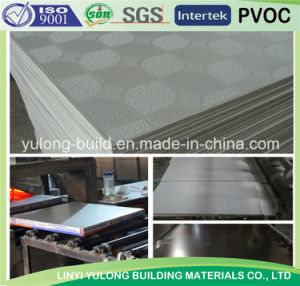 Gypsum Ceiling Tile with PVC Covered and Back Aluminium Foil pictures & photos
