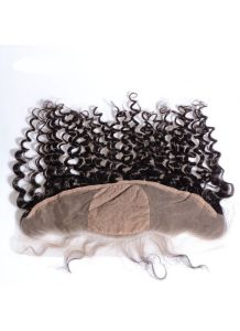 4X4 Silk Base Virgin 13X4 Human Hair Lace Frontal Deep Curly Front Lace Closure Piece pictures & photos