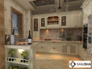 Modern Home Hotel Furniture Island Turkish Wood Kitchen Cabinet pictures & photos