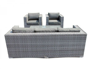 Outdoor Porch 3 Seater Rattan Patio Couch Sofa Set pictures & photos