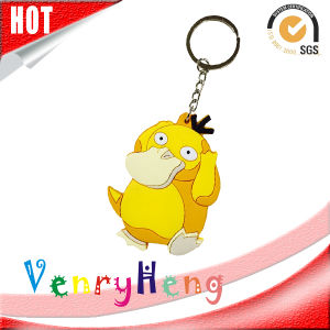 High Quality 3D Customized Cartoon Rubber Keychain for Promotion Gift pictures & photos