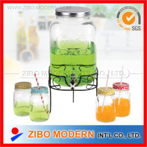 High Quality Clear Glass Beverage Dispenser with Tap pictures & photos