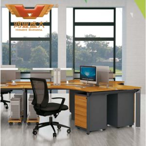 Modern Straight 4 Seats Office Furniture Partition Workstation (H50-0206) pictures & photos