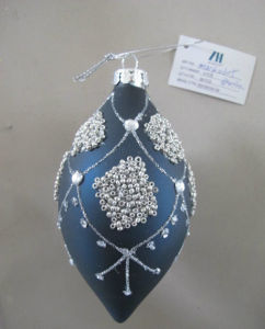 Blue Color Christmas Glass Ornaments pictures & photos