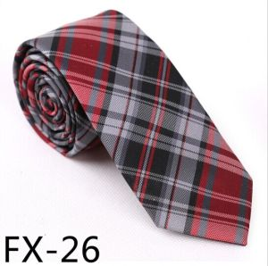 New Design Fashionable Silk/Polyester Check Necktie Fx-26 pictures & photos