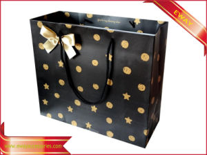Gift Paper Bag Gold Printing Garment Shopping Bag pictures & photos
