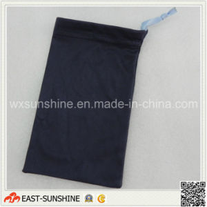Custom Logo Microfiber Soft Sunglasses Pouch with Drawstring pictures & photos