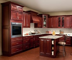 New Design Cherry Kitchen Cabinet Home Furniture Yb1706178 pictures & photos