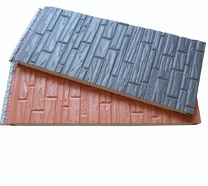 Unipan Steel Plate Polyurethane Wall Panel Siding (Grey color) pictures & photos