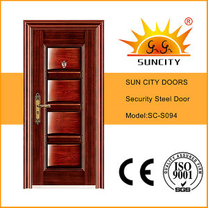 Sc-S094 Factory Price Panel Design Security Iron Door pictures & photos