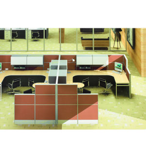 MFC Fireproof Plywood Staff Partition Desk (PS-P68) pictures & photos