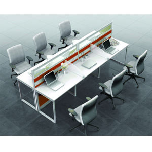 MFC Fireproof Plywood Staff Partition Desk (PS-P67) pictures & photos