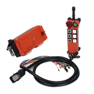 Aviation Plug 6 Single Push Button F21-C-E1q Radio Remote Control for Cranes pictures & photos